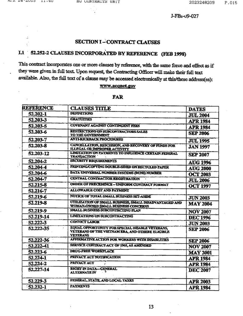 NAS-FBI contract12