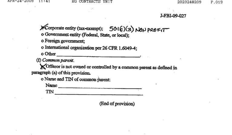 NAS-FBI contract15