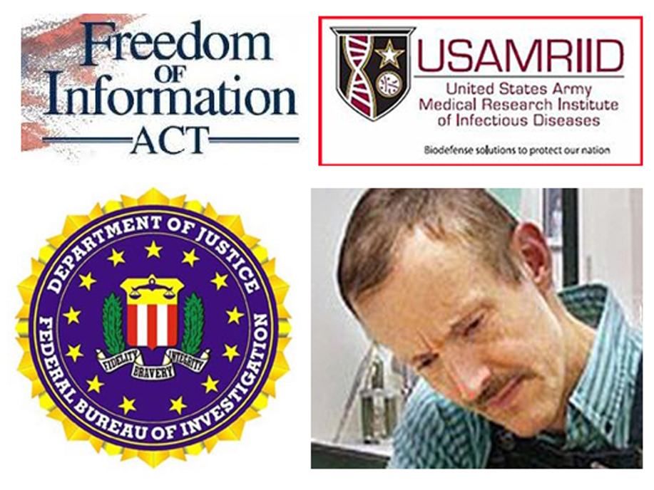 USAMRIID, FOIA, FBI, Ivins