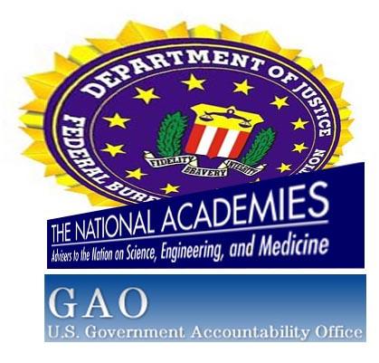 FBI, NAS, GAO